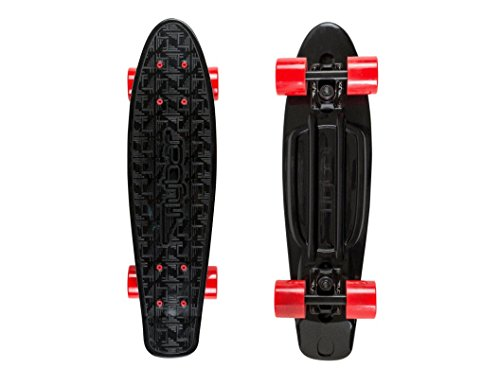 Flybar 22 Inch Cruiser Plastic Complete Skateboard With Smooth PU 59mm Wheels, ABEC 7 Bearings For Kids, Beginners, Youth, Advanced Skating – Multiple Colors