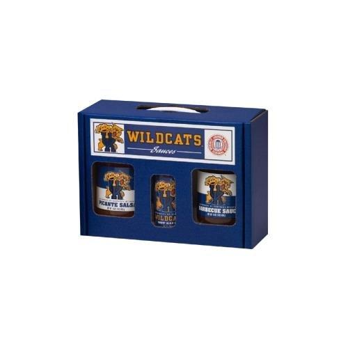 College Picante Salsa - Kentucky Wildcats NCAA Tailgate Kit (5oz Hot Sauce, 16oz BBQ Sauce, 16oz Picante Salsa)