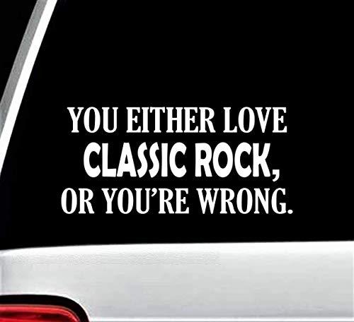 Classic Rock Funny Decal Sticker for Car Window 8.0 Inch BG ()