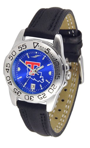 Sport Louisiana Bulldogs Tech Watch (NCAA Louisiana Tech Bulldogs Ladies Sport Leather AnoChrome Watch)