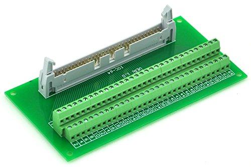 Electronics-Salon IDC64 2x32 Pins 0.1'' Male Header Breakout Board, Terminal Block, Connector.