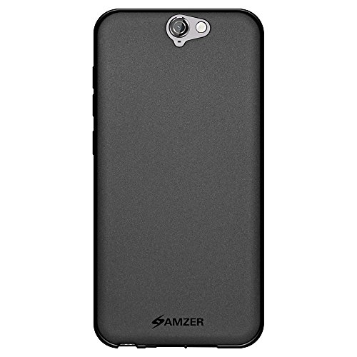 Amzer Pudding Soft Gel TPU Skin Fit Case for HTC One A9 - Retail Packaging - Black