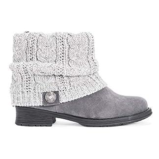 MUK LUKS Women's Pattrice Boots - Grey Heather, 9