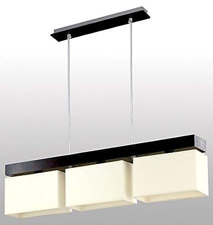 Bauhaus - Lámpara de techo (3 focos, diseño Hogar, en marrón ...