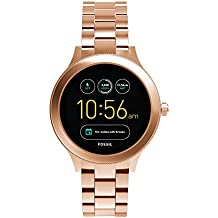 Fossil Q Women's Gen 3 Venture Stainless Steel Smartwatch, Color: Rose Gold-Tone (Model: FTW6000)