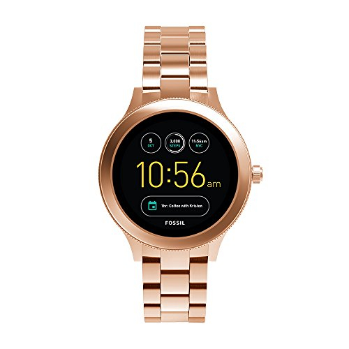 - Fossil Q Women's Gen 3 Venture Stainless Steel Smartwatch, Color: Rose Gold-Tone (Model: FTW6000)