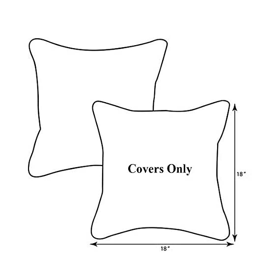 "Pcinfuns Set of 2 Patio Indoor/Outdoor All Weather Decorative Throw Pillow Cover Cushion Case for Replacement 18"" x 18""-Phoenix - 100% Spun Polyester. Package includes:2 pcs 18 x 18 inches square toss pillow covers, insert NOT included. Zipper closure easy for pillow covers replacement. - patio, outdoor-throw-pillows, outdoor-decor - 417mu8k1gqL. SS570  -"