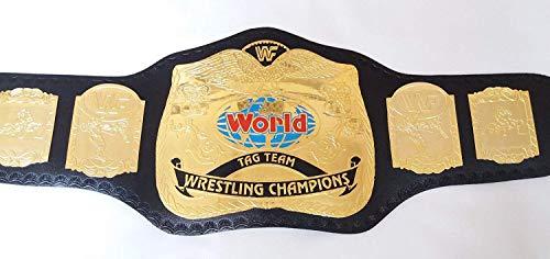 - Qualitycreator WWF Tag Team Championship Belt Replica 4mm Brass Plate