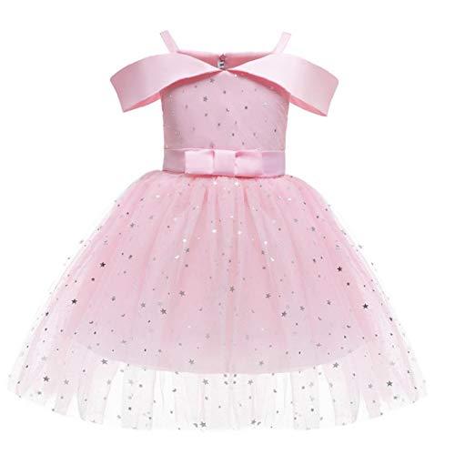 Girls Princess Jurken Flower Meisjes Princess Costume Baby Girl baljurken Dress Pink 110cm