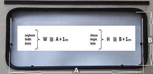 Kassettenrollo Verdunklung Fliegengitter Grau NRF 1000 mm Wohnmobile Wohnwagen