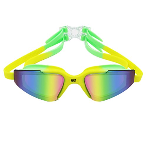 Zhhlaixing Adult Anti-fog Waterproof Swim Goggles Multicolor Electroplating Goggles