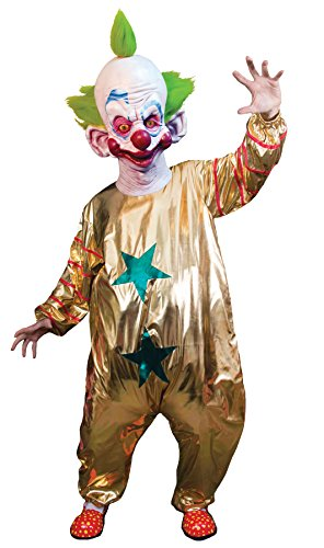 Outer Space Costumes (UHC Men's Killer Klowns From Outer Space Shorty Outfit Halloween Costume, OS)