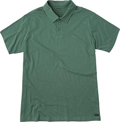 rvca-mens-sure-thing-ii-polo-shirt-green-ivy-medium
