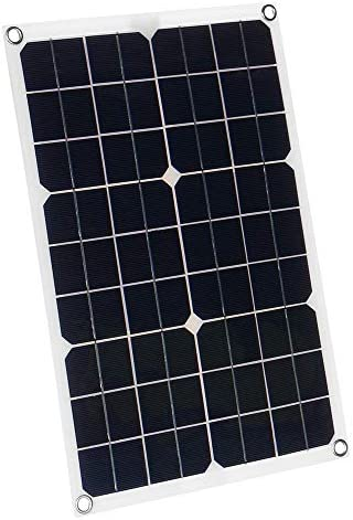 YuYzHanG Solarpanel Batterie-Solarzellen-Modul-Auto-Boots Outdoor Radfahren Klettern Wandern Charger 50W 18V Dual USB Solar-Panel Solar Energiser (Color : Black, Size : 50W)