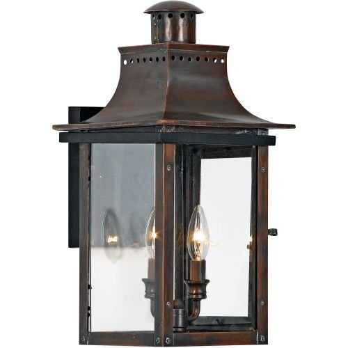 Quoizel CM8410AC Chalmers 20-1/2-Inch Large Wall Lantern, Aged Copper Finish