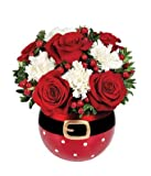 White and Red Christmas - eshopclub Same Day Christmas Flower Delivery - Online Christmas Flowers - Christmas Flowers Bouquets & Plants - Send Christmas Centerpiece