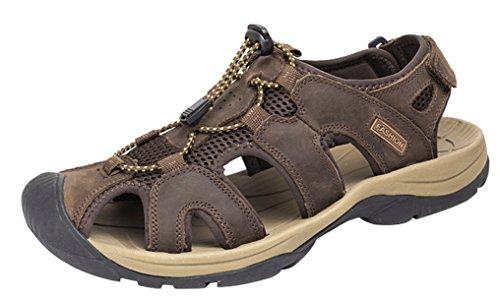 LOUECHY Herren Landam Fischer Sandale Sommer Outdoor Sandalen Walking Water Schuhe Kaffee