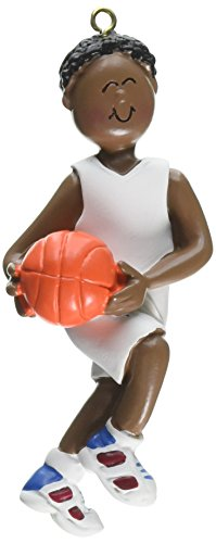 Male Basketball Resin - Ornament Central OC-100-MAA Male African/American Basketball Figurine