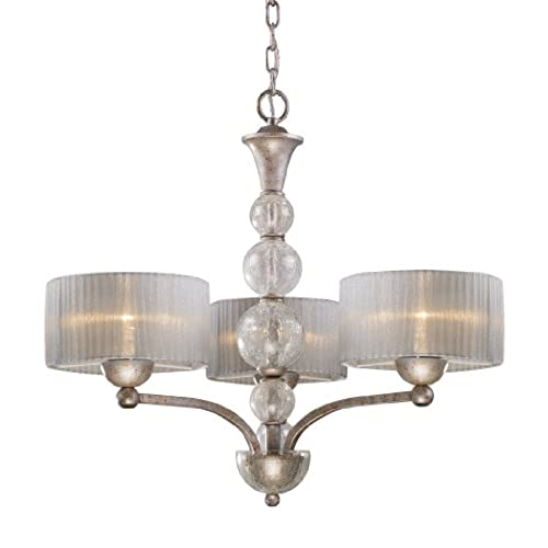 Elk 20008/3 Alexis 3-Light Chandelier In Antique Silver - Antique Chandeliers For Sale: Amazon.com