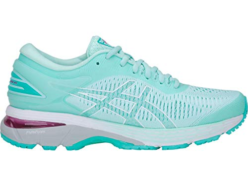ASICS Women's Gel-Kayano 25 Running Shoes, 12M, ICY Morning/SEA Glass