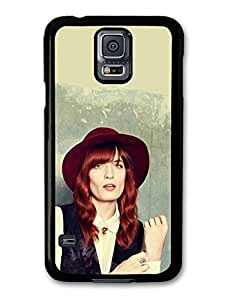 AMAF ? Accessories Florence + the Machine with Red Had and Red Hair and Vest case for Samsung Galaxy S5