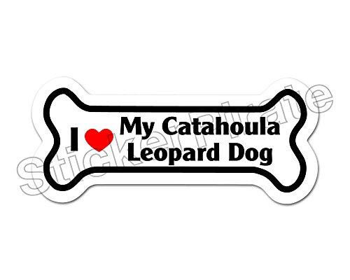 *Dog Bone Magnet* I Love My Catahoula Leopard Dog Car Truck Locker Magnet