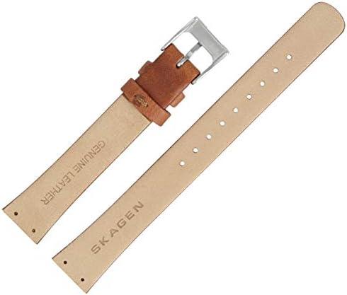Skagen /> Uhrenarmband Leder genarbt braun Band /> 433SGL1