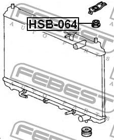 Mount Rubber Radiator Febest HSB-064 Oem 74173-SJ4-000