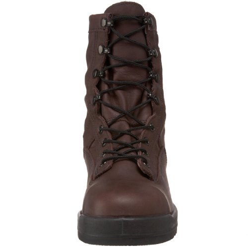 Wellco Mens Navy Flight Deck Tw St Boot Chocolate Brown