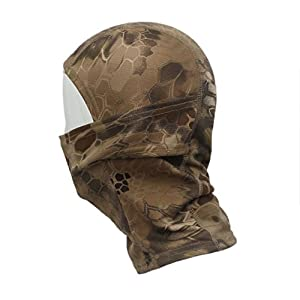 ABC® Camouflage Army Cycling Motorcycle Cap Balaclava Hats Full Face Mask (Brown)