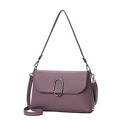 2017 fashion new oblique cross hand-held striped bag O-type metal lock length of 2 shoulder strap