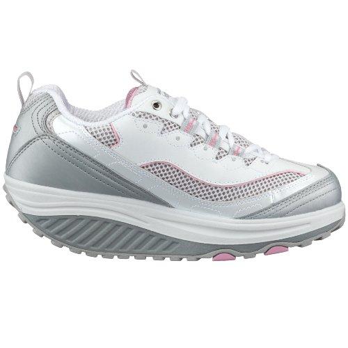 Scarpe Da Ginnastica Per Donna Forma Da Salto Scarpe Da Passeggio Fitness Bianco Rosa