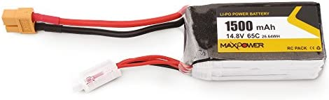 Godyluck 14.8V 1500mAh 65C 4S Li-Po Batería XT60 Plug para Wizard ...