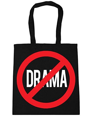 HippoWarehouse no Drama Tote Compras Bolsa de playa 42cm x38cm, 10litros negro
