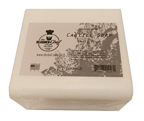 Castile Soap - Melt and Pour - 1 Pound (1 lb.) - Made in The U.S.A. -Olive Oil Based
