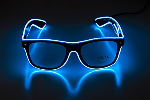 Glow Eye Glasses masks LED Light Up Glasses El Wire Glowing Party Rave Glasses For Halloween Luminous Night Costume Parties