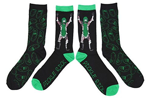 RICK AND MORTY Pickle Rick 2 Pack Casual Crew Socks from RICK AND MORTY