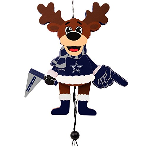 Dallas Cowboys Official NFL Holiday Christmas Ornament Cheering Reindeer by Forever Collectibles - Ornaments Nfl Holiday