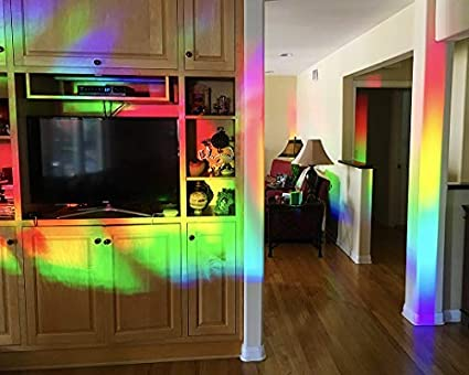 Rainbow Symphony Lámina Decorativa para Ventana con Efecto de Cristal Grabado y holográfico, rellena tu casa con Paneles de 61 x 91 cm de luz arcoíris – patrón de Ambrosia: Amazon.es: Hogar