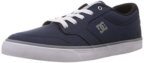 DC Men's Nyjah Vulc TX Skate Shoe, Grey/Gum, 10 M US Blu (Bleu (Navy/Grey))