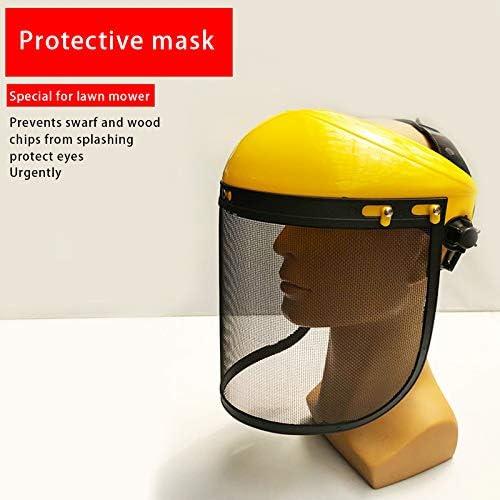 SHUCHEN M/áscara de malla dise/ño de seguridad protector de cara Segadora desbrozadora Protecci/ón protector ocular