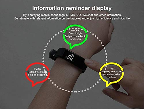 Burn-Rate Fitness Tracker Heart Rate Monitor - Smart Watches for Women & Men, Kids Color Smart Watch Fit Bracelet. Reloj Inteligente band Pedometer, Waterproof, Distance Activity bit for Android & iOS by Burn-Rate Fitness 115plus (Image #8)