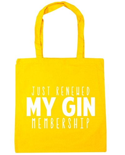 litres HippoWarehouse Just x38cm Bag Beach Yellow membership Shopping renewed 10 gin my Tote 42cm Gym O1wgOrqU
