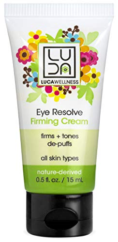 Honey Forest Organic - Luca Wellness Eye Resolve Firming Eye Cream, Multi-tasking Anti-Aging Eye Cream to Hydrate, Firm & De-Puff. With Naturally Derived & Certified Organic Ingredients, Forest Honey & Sweet Almond Oil
