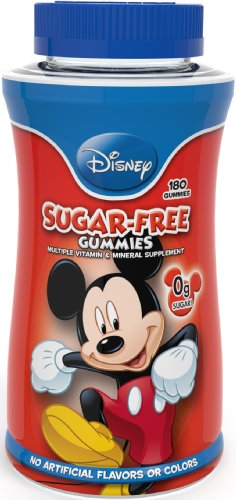 Disney sans sucre multivitamines Gummies, 180 comte