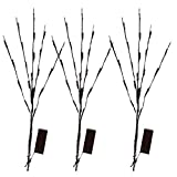 Tree Branch LED Table Lamp, Natural Willow Twig Lighted Branch for Home Decoration, USB Plug-in and Battery Powered