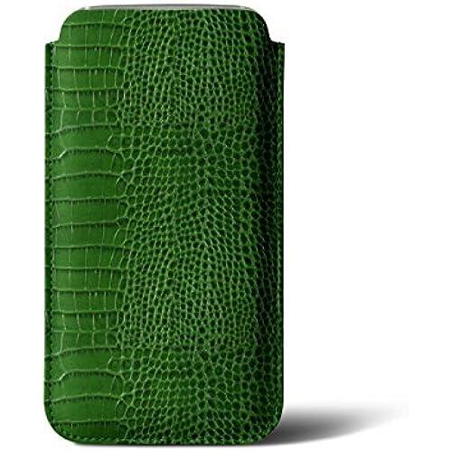 Lucrin - Sleeve for Samsung Galaxy S7 - Light Green - Crocodile style calfskin Sales