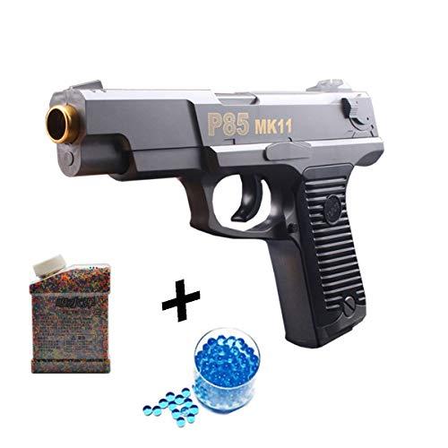Water Bomb Toy Gun, Semi-Automatic Single Hair Crystal Gun 1:1 Children's Toy Pistol+20000 Crystal ()