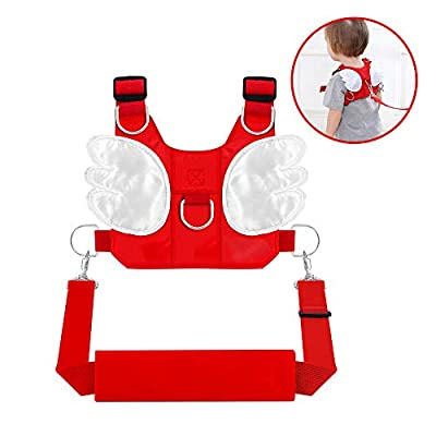 Aukronic Baby Toddler Walking Safety Harness with Leash Child Assistant Strap,Cute Wings Anti-Lost Backpack Adjustable for 1-5 Years Boys and Girls, Multifunctional Kid Learn to Walk Assistant