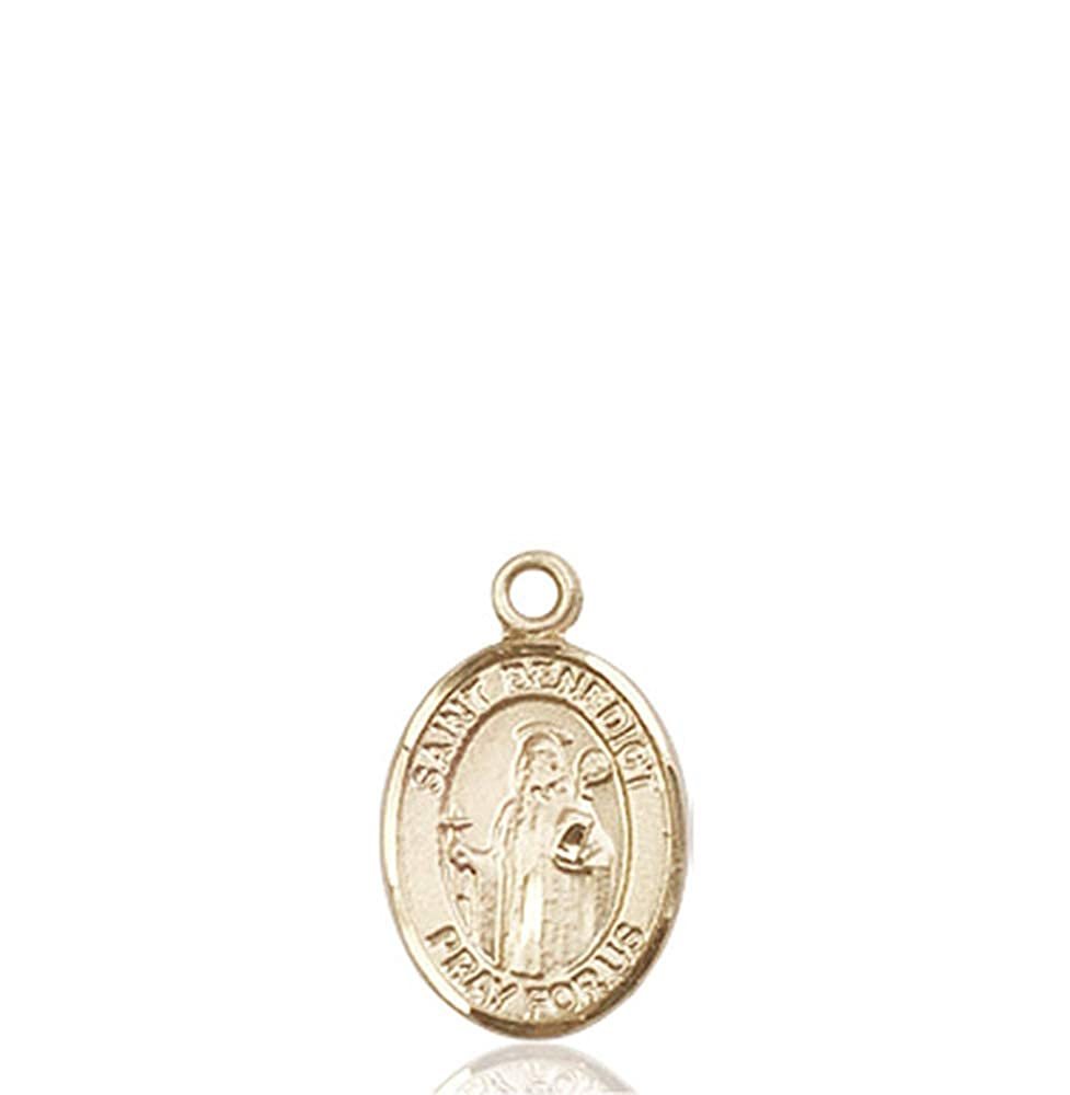 14kt Gold St Patron Saint Monks//Poison Sufferers 1//2 x 1//4 Benedict Medal
